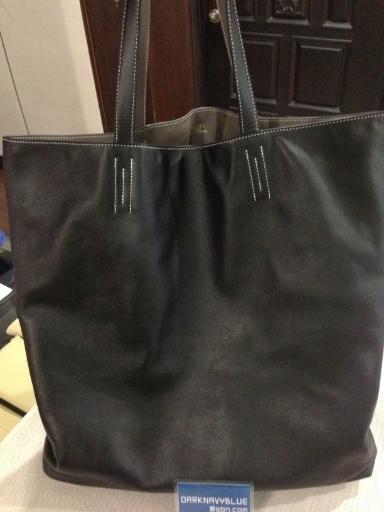 fa4382e0655b ... uk hermes double sen brandnew colour black etain reversible bag size  tgm 50cm. price 189900