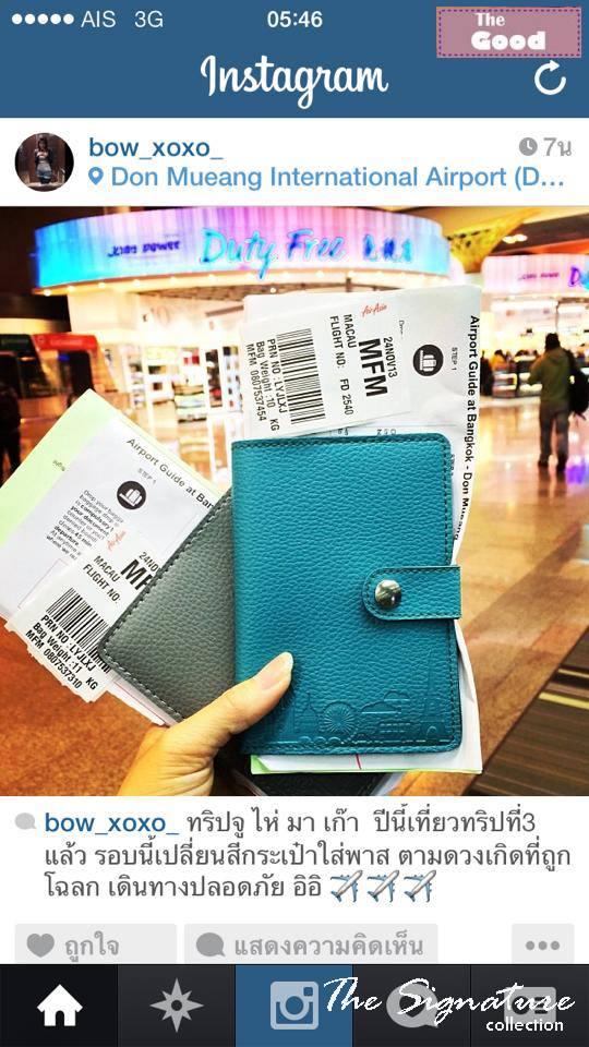 ปกหนังสือเดินทาง ปกพาสปอร์ต กระเป๋าใส่หนังสือเดินทาง กระเป่าใส่พาสปอร์ต Passport Holder Pasport Case พร้อมช่องใส่ตั๋ว และบัตร
