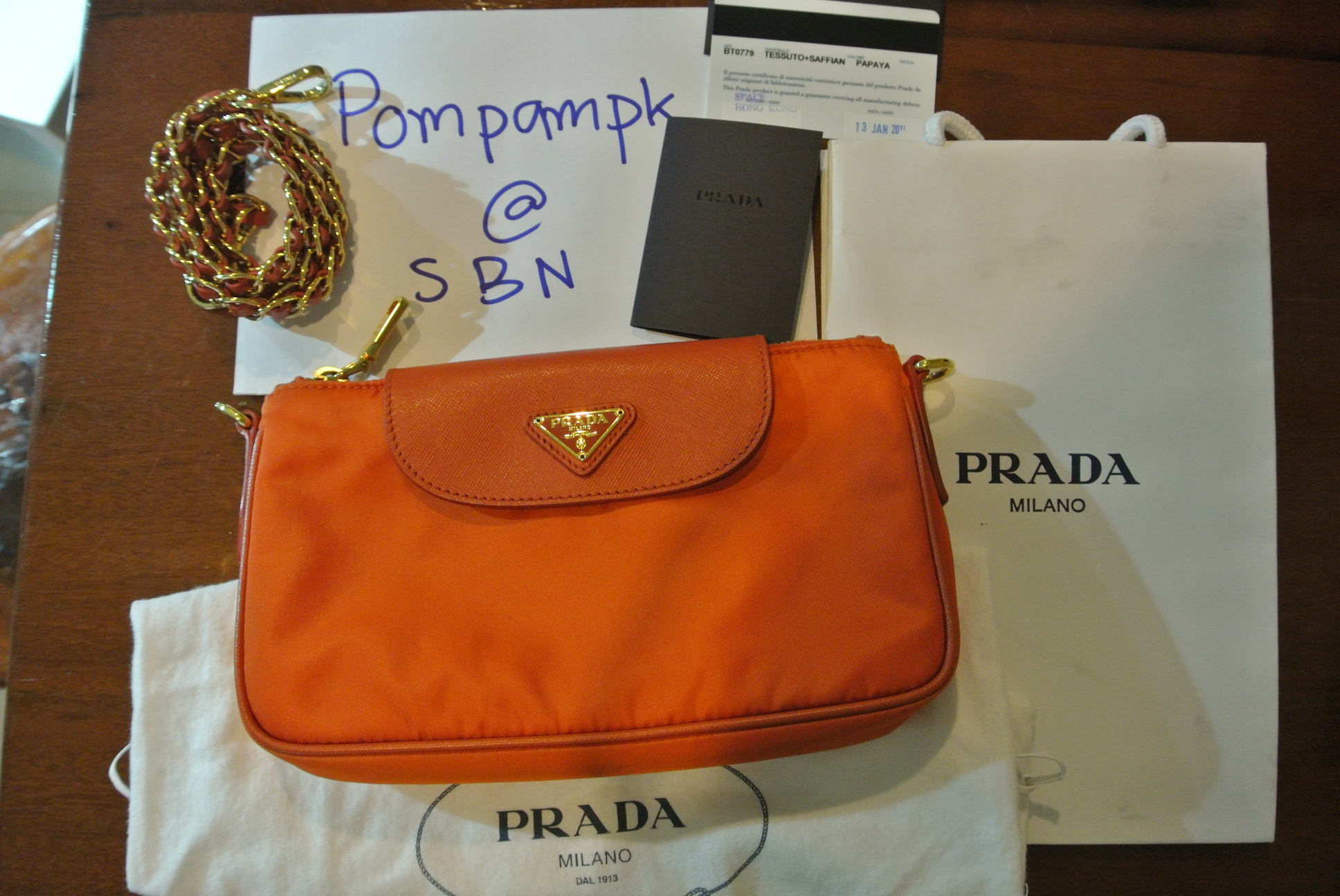 bfbafd5779d7 spain prada mirage small leather bag 99327 cd3fb  promo code for prada  nylon tessuto saffiano clutch sling bag bt0779 papaya. . . 18071